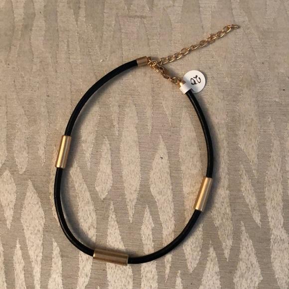 Merx Jewelry - Soft Black/Gold Choker